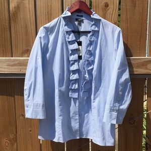 3/4 Sleeve Button Down Shirt